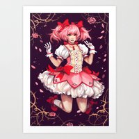 madoka magica Art Prints featuring ♥ Madoka ♥ by ShinoX