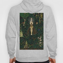 1921 Classical Masterpiece 'Flowers and Flames' by Kay Nielsen Hoody