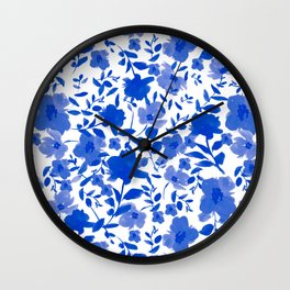 Spring Clusters Blue Wall Clock