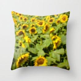 Summer Sunflower Love II Throw Pillow