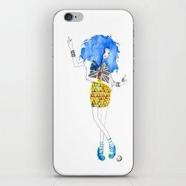 Blue Dance iPhone Skin