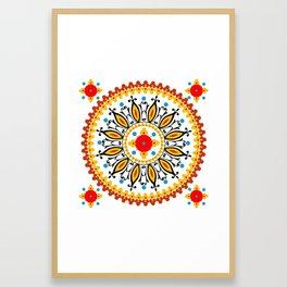 Mandala warm colour pallette Framed Art Print