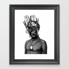 Kifwebe mask Framed Art Print