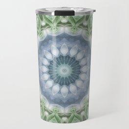 Slate Blue and Green Mandala Travel Mug