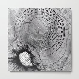 Fragmented Fractal Memories and Shattered Glass Metal Print