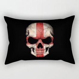 Dark Skull with Flag of England Rectangular Pillow