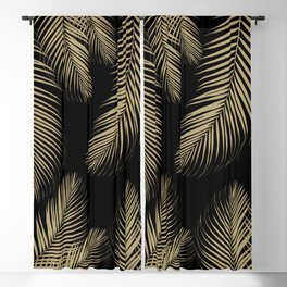 Palm Leaves - Gold Cali Vibes #4 #tropical #decor #art #society6 Blackout Curtain