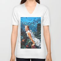 moss V-neck T-shirts featuring Kate Moss by John Turck