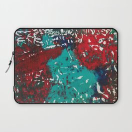 Abstracted Wolf and Kitten Laptop Sleeve