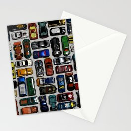 Toy cars pattern Stationery Cards