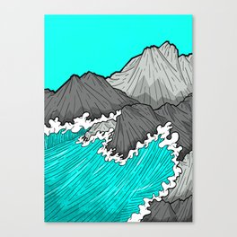 The Rocks And The Sea Canvas Print