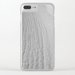 Water Shore (Black and White) Clear iPhone Case