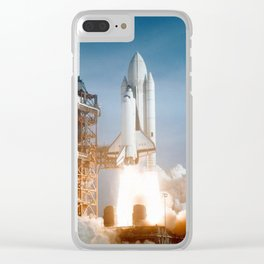 STS-1 Space Shuttle Launch Clear iPhone Case