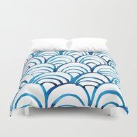 scales Duvet Covers featuring Scales by Alex Dehoff