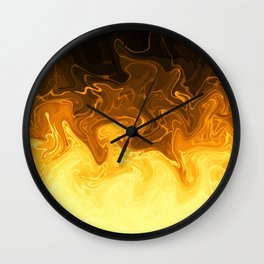 Smokey Swirling Yellow Wall Clock