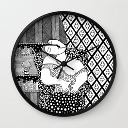Pablo Picasso. Sitting woman asleep. 1932 Wall Clock