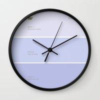 pantone Wall Clocks featuring pantone by Sara Eshak