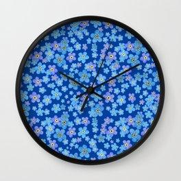 Forgetmenot Wall Clock
