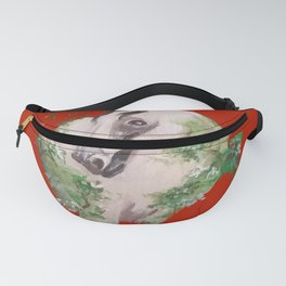 Buckskin in the Greens on Red Fanny Pack
