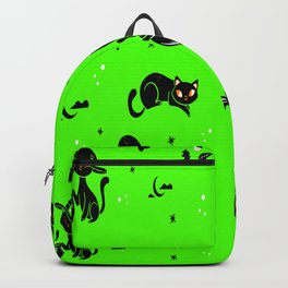 Cat Lovers Gift Halloween Pattern Cats Backpack