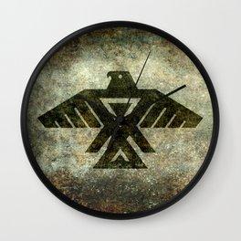 Thunderbird flag - Vintage grunge version Wall Clock