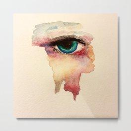 Eye in watercolor Metal Print