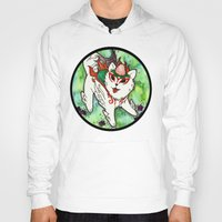 okami Hoodies featuring Amaterasu from Okami 01 by Jazmine Phillips