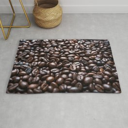 Roasted Coffee beans pattern Rug