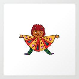 Poncho Monster Art Print