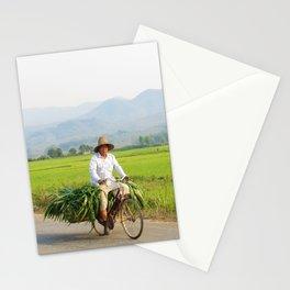 Farmers on bike | Harvest Time Myanmar | Travel Art Prints Stationery Cards