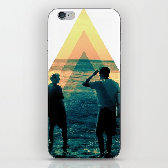 Shape of the ocean iPhone & iPod Skin