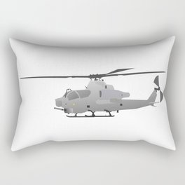 American Grey Attack Helicopter Rectangular Pillow