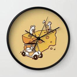 Par Cheesy Wall Clock