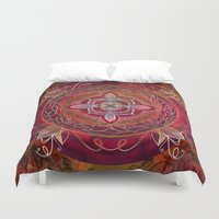 chakra Duvet Covers featuring Root Chakra by brenda erickson