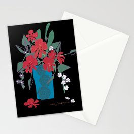 Vase Of Flowers. Stationery Cards