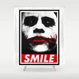 The Joker SMile Shower Curtain