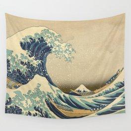 The Great Wave - Katsushika Hokusai Wall Tapestry
