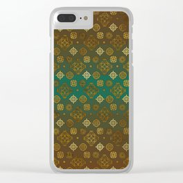 Ethnic Aztec symbols pattern Clear iPhone Case