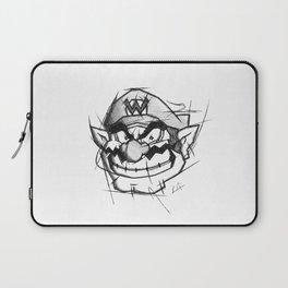 Wario Handmade Drawing, Games Art, Super Mario, Nintendo Art Laptop Sleeve