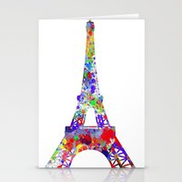 eiffel tower Stationery Cards featuring Eiffel Tower  by ron ashkenazi