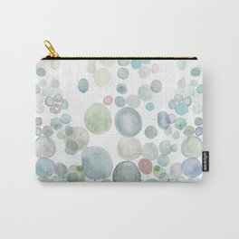 Abstract blue Sea Watercolor Carry-All Pouch