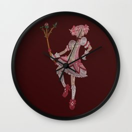 Madoka Kaname (color) Wall Clock