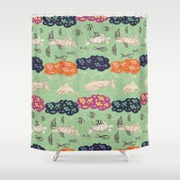 coral Shower Curtains featuring Coral  by Kirpa