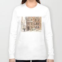 takmaj Long Sleeve T-shirts featuring Winter in NYC by takmaj