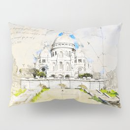 Sacré-Cœur de Montmartre, Basilica of the sacred Heart, Paris Pillow Sham