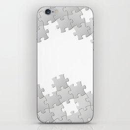 Puzzle white iPhone Skin