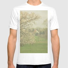 Countryside MEDIUM White Mens Fitted Tee