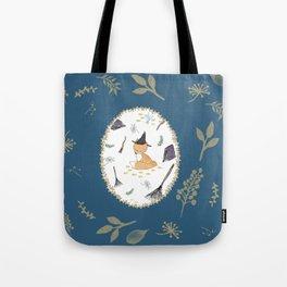 Blue Magical Fox Tote Bag