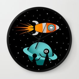 Somewhere in the Galaxy Wall Clock