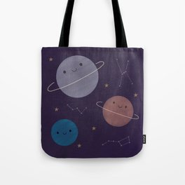 Kawaii Outer Space Tote Bag